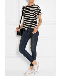 R13 - Black Boy Striped Cotton And Cashmere-blend T-shirt - Lyst