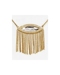 "Rebecca Minkoff | Metallic Phoenix Fringe Pendant Necklace 16"" | Lyst"