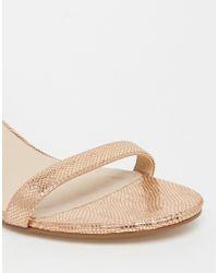 ASOS - Natural Honeydew Heeled Sandals - Lyst