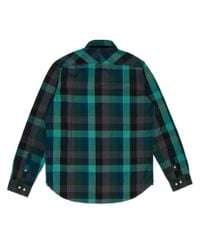 Paul Smith - Green Large Check Slub-Chambray Shirt for Men - Lyst