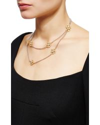 Buccellati | Metallic Long Sautoir Necklace 10 Motifs With Diamonds In Yellow Gold And White Gold | Lyst