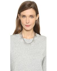 Luv Aj - Metallic The Spike Flare Necklace - Silver Ox - Lyst