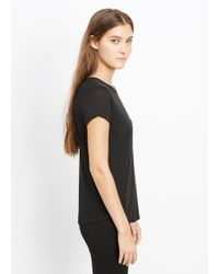 Vince - Black Shirttail Short Sleeve Pocket Tee - Lyst