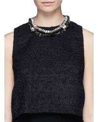 Venna | Black Star Charm Spike Collar Necklace | Lyst