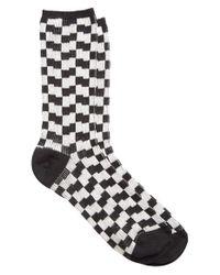 Julien David - Black Check Socks - Lyst