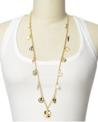 Juicy Couture | Metallic Multi Charm Strand Necklace | Lyst
