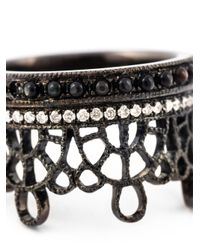 Joelle Jewellery | Brown Antique Effect Diamond Crown Ring | Lyst