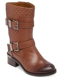 Vince Camuto | Brown Welton Mid-shaft Booties | Lyst