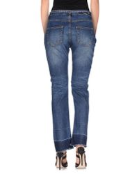 Erika Cavallini Semi Couture - Blue Denim Pants - Lyst