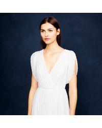 J.Crew - White Hawkins Dress In Swiss-dot - Lyst