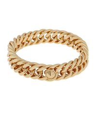Rachel Zoe | Metallic 12K Gold Plated Curb Link Bangle Bracelet | Lyst