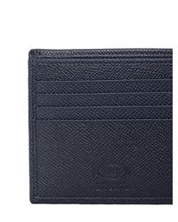 Tod's | Blue Stitched Grained Leather Classic Wallet for Men | Lyst