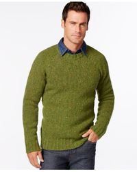 Barbour | Green Netherby Tweed Crew-neck Sweater for Men | Lyst