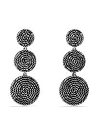 David Yurman | Metallic Sterling Silver Coil Drop Earrings | Lyst