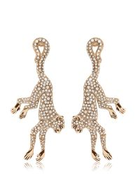Roberto Cavalli | Metallic Monkey Earrings With Swarovski Crystals | Lyst