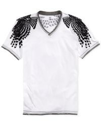 INC International Concepts | Gray Wings V-Neck T-Shirt for Men | Lyst
