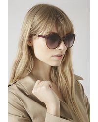 TOPSHOP - Purple Lucie Preppy Round Sunglasses - Lyst