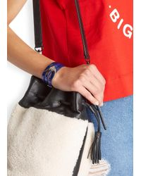 McQ - Blue Swallow Leather Wrap Bracelet - Lyst