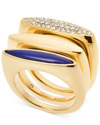 Michael Kors | Metallic Tribal Stackable Ring Set | Lyst