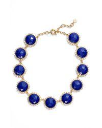Trina Turk - Blue Crystal Collar Necklace - Lyst