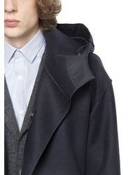 Lanvin | Blue Double-breasted Trench Coat for Men | Lyst