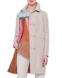 Akris - Natural Dame Reversible Silk Taffeta Trenchcoat - Lyst