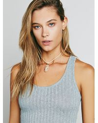 Free People | Natural Macrame Stone Choker | Lyst