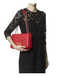 Love Moschino Super Quilted Flap Over Shoulder Bag 83
