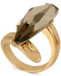 Robert Lee Morris - Gray Bronze-tone Stone Wrap Ring - Lyst