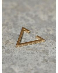 Zoe Chicco | Metallic Diamond Triangle Ear Cuff | Lyst