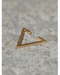 Zoe Chicco | Metallic Diamond Triangle Ear Cuff | Lyst