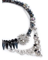 Assad Mounser - Blue Glass Spike Rhinestone Necklace - Lyst