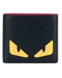 Fendi   Black Bag Bugs Billfold Wallet for Men   Lyst