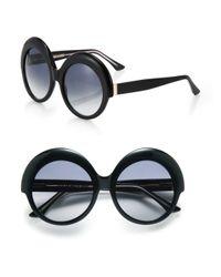 Cutler & Gross - Black Oversized 56mm Round Sunglasses - Lyst