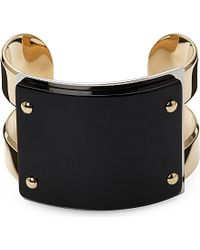 Marni | Black Gold-plated Horn Cuff - For Women | Lyst