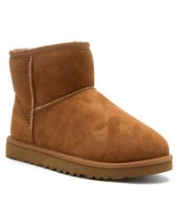 UGG | Brown Mini Classic Sheepskin Boot | Lyst