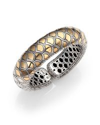 John Hardy | Metallic Naga 18K Yellow Gold & Sterling Silver Bold Flex Cuff Bracelet | Lyst