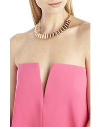 BCBGMAXAZRIA - Metallic Pave Track Necklace - Lyst