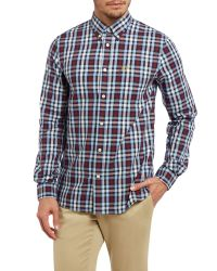 Fred Perry | Blue Long Sleeve Multi Check Shirt for Men | Lyst