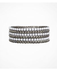 Express - Metallic Six Row Rhinestone Stretch Bracelet Set - Lyst
