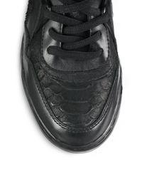Ash - Black As-Blind Leather Wedge Sneakers - Lyst
