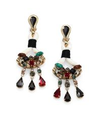 Etro - Multicolor Jeweled Chandelier Earrings - Lyst