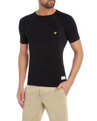 Lyle & Scott - Black Sports Short Sleeve Base Layer Crew for Men - Lyst