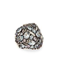 Alexis Bittar Fine | Multicolor Cool Heather Marquise Multi-stone Cluster Dome Ring with Diamonds | Lyst