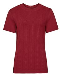 Reiss | Red Megan Knitted Top | Lyst