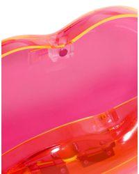 Lulu Guinness | Pink Neon Lips Clutch | Lyst