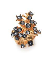 Alexander McQueen | Metallic Cherry Blossom Ring | Lyst
