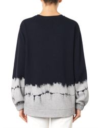 Stella McCartney - Blue Cotton-Blend Sweatshirt - Lyst