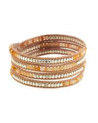 Nakamol | Metallic Yellow Agate Wrap Bracelet | Lyst