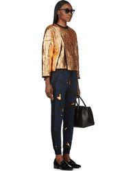 3.1 Phillip Lim - Blue Navy Cracked Pattern Lounge Pants - Lyst
